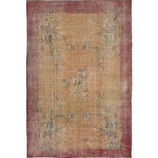 "6'5"" x 9'9"" Pastel Vintage Turkish Overdyed Rug"