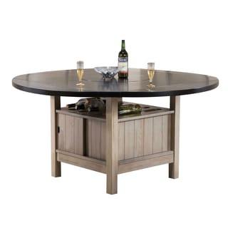 Acme Furniture Ramona Dark Walnut/Antique Beige Dining Table