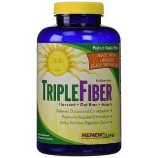 Renew Life Organic Triple Fiber (150 Capsules)
