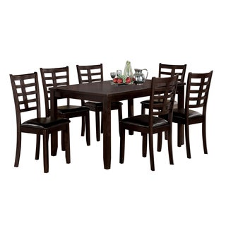 Acme Furniture Tahlia 7-Piece Pack Dining Set, Espresso