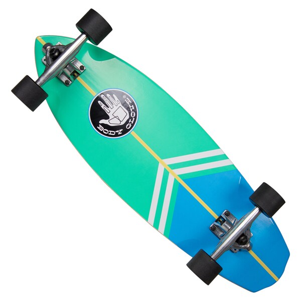 "Body Glove ""Surfslide"" Aqua Green 28-in High Performance Cruiser Skateboard"