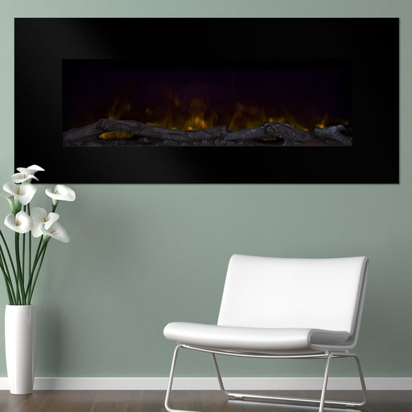 """Northwest 50"""" Color Changing LED Electric Fireplace with Remote-Black"""