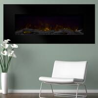 "Northwest 50"" Color Changing LED Electric Fireplace with Remote-Black"