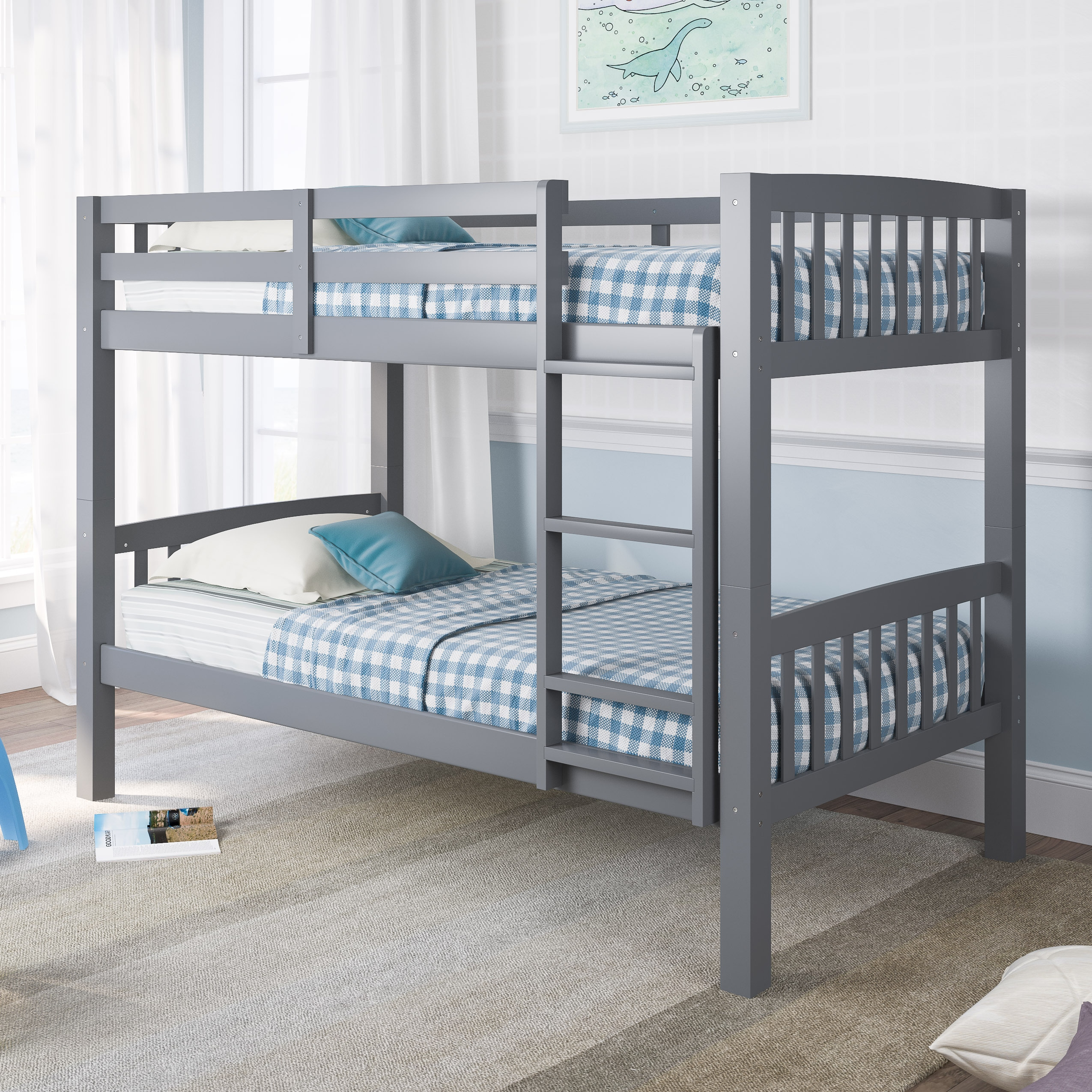 Shop Taylor Olive Christian Twin Single Bunk Bed Overstock 14370663