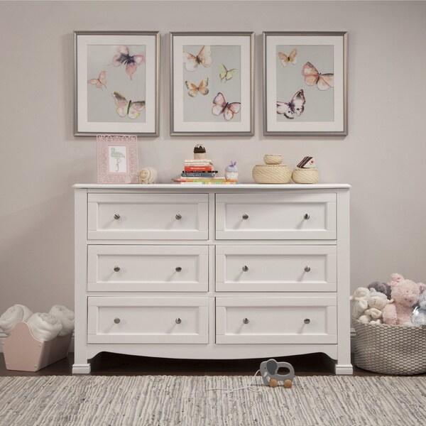 DaVinci Kalani 6 Drawer Double Wide Dresser, KD