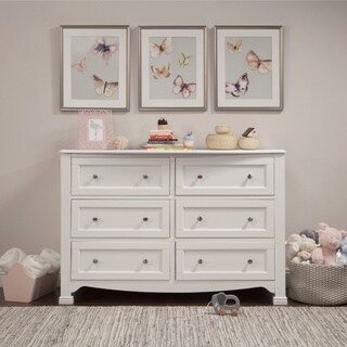 DaVinci Kalani 6 Drawer Double Wide Dresser, KD
