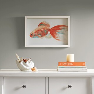 Urban Habitat Gilbert Goldfish Orange Frame Art