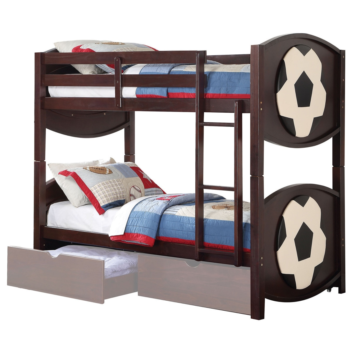 ACME Furniture All Star Twin over Twin Bunk Bed, Espresso...