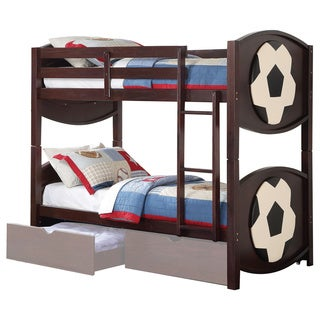 Acme Furniture All Star Twin over Twin Bunk Bed, Espresso