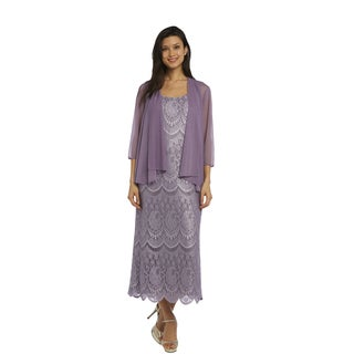 RM Richards Women's Lace Jacket Dress