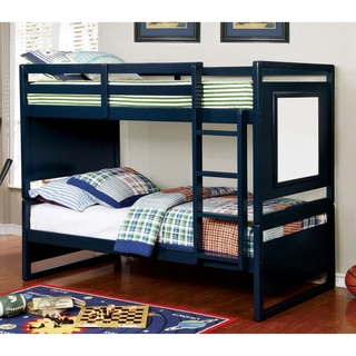 Furniture of America Crayen Twin over Twin Bunk Bed with Whiteboard Panels