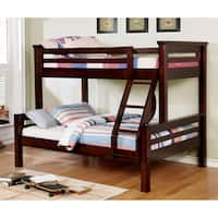 Furniture of America Laine II Dark Walnut Slatted Bunk Bed