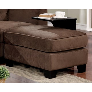 Furniture of America Hiigins Contemporary Linen Brown 2-piece Ottoman and Table Set