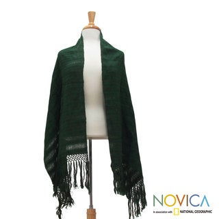 Handmade Cotton 'Oaxaca Nature' Rebozo Shawl (Mexico)