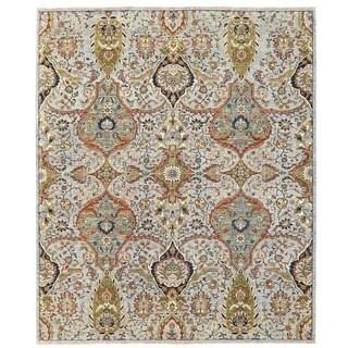 Herat Oriental Afghan Hand-knotted Vegetable Dye Khotan Wool Rug (7'11 x 9'8)