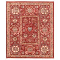 Herat Oriental Afghan Hand-knotted Vegetable Dye Suzani Wool Rug (8'4 x 9'11)