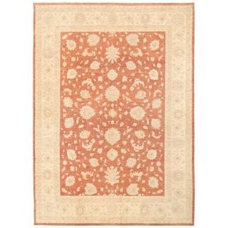 Herat Oriental Afghan Hand-knotted Vegetable Dye Oushak Wool Rug (10'3 x 14'4)