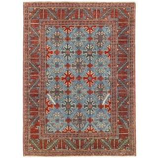 Herat Oriental Afghan Hand-knotted Vegetable Dye William Morris Wool Rug (5'9 x 7'11)