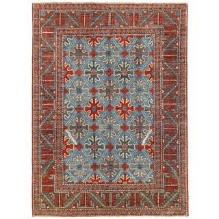 Herat Oriental Afghan Hand-knotted Vegetable Dye William Morris Wool Rug (5'9 x 7'11)