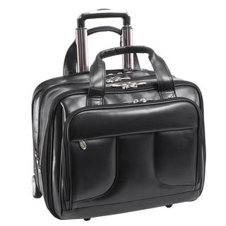 McKlein USA Chelsea Black Leather 15.6-inch Laptop and Tablet Rolling Case|https://ak1.ostkcdn.com/images/products/14380478/P20953418.jpg?impolicy=medium