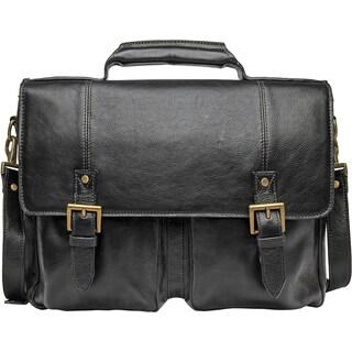 Hidesign Charles 02 Medium Leather Messenger Briefcase