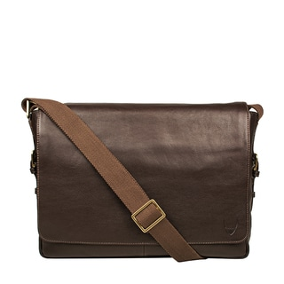 Hidesign William 02 Horizontal Leather Messenger Bag