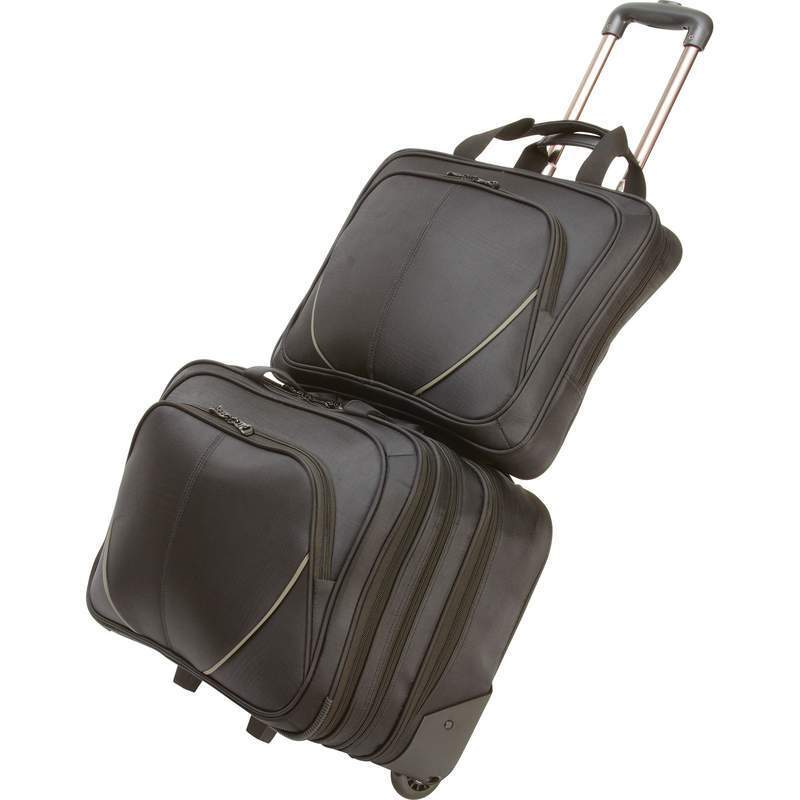 MAXAM 2-piece Rolling Carry-on Business Overnight and Lap...