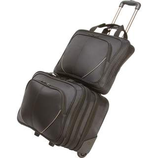 Maxam 2-piece Rolling Carry-on Business Overnight and Laptop Briefcase Luggage Set