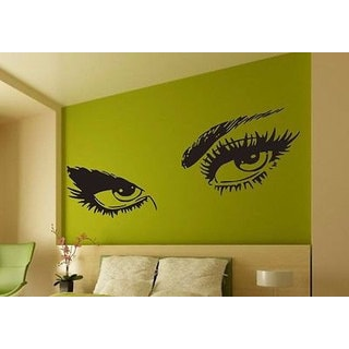 Full Color Audrey Hepburn Beautiful Eyes Removable Wall Art Decal Sticker Decor Sticker Decal size 3