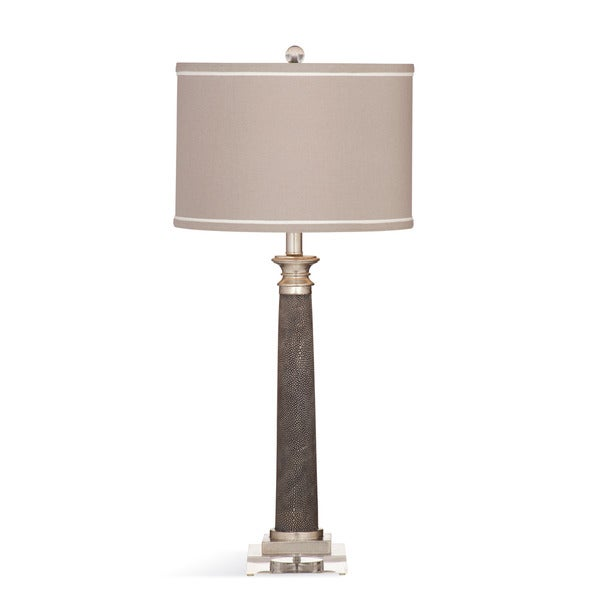 Savona 31-inch Grey Ceramic Table Lamp