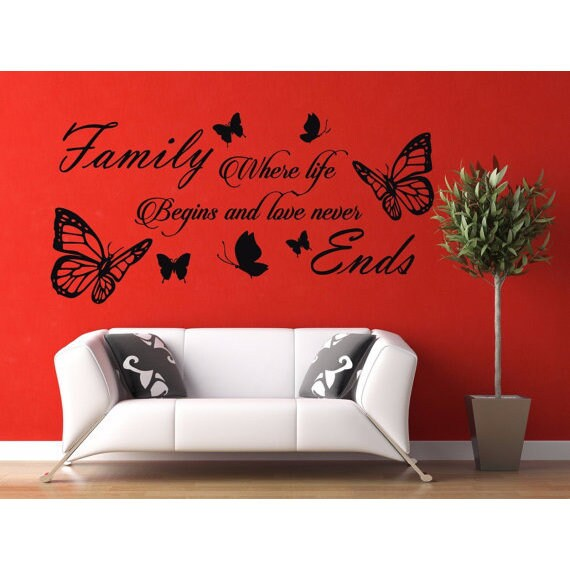 shop full color diy home family letter quote removable vinyl decal