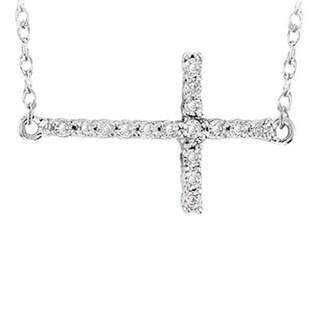 Elora Sterling Silver Diamond Accent 18-inch Chain Pendant (I-J, I2-I3)