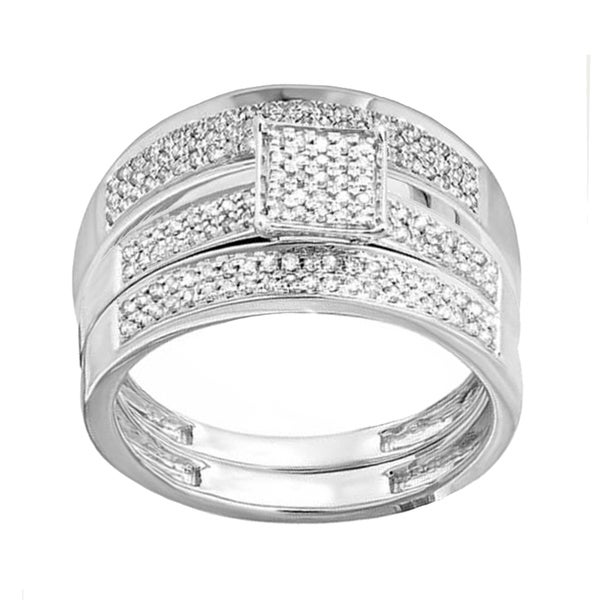 57b3b67d0eafb Wedding Rings     Bridal Sets. Elora 10k White Gold 1 2ct TDW White Diamond  Men s and