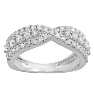 Elora 14k Gold 1ct TDW Round White Diamond Fashion Cocktail Right Hand Ring (I-J, I1-I2)