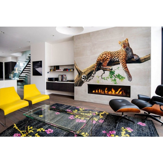 Full Color Cheetah Full Color Decal, Cheetah Full color sticker, wall art Sticker Decal size 22x35