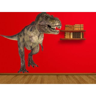 Full Color Dinosaur Full Color Decal, T-Rex Full color sticker, wall art Sticker Decal size 22x26