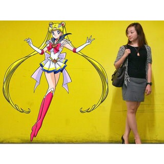 Full Color Sailor Moon Full Color Decal, Sailor Moon Full color sticker, wall art Sticker Decal size 22x26