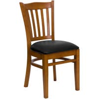 Riverdale Cherry Wood Black Upholstered Classic Dining Chairs