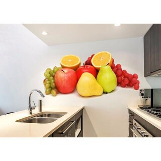 Full Color Fruit Kitchen Full Color Decal, Fruit Full color sticker, Fruit wall art Sticker Decal size 22x35