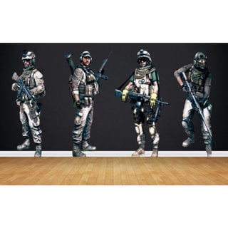 Full Color Soldiers Full Color Decal, Soldiers Full color sticker, Soldiers wall art Sticker Decal size 44x70