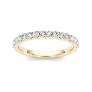 De Couer 10k Yellow Gold 1/3ct TDW Diamond Wedding Band