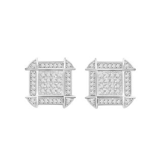 Sterling Silver 1/6ct TDW Round Diamond Earrings (H-I, I1-I2)