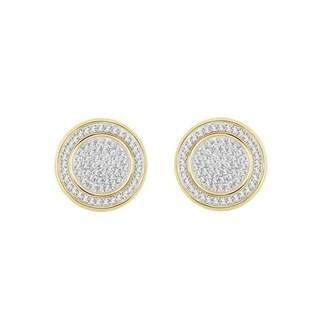 Sterling Silver 2/5ct TDW Diamond Earrings (H-I, I1-I2)