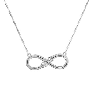 10k yellow gold 1/10ct tdw three stone diamond Infinity necklace