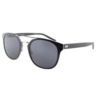 Dior Al 13.4/S KI2 IR Semi Tortoise Black Metal Round Sunglasses with Blue Lens