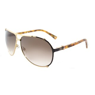Dior Dior Chicago 2/Strass/S UPX JS Rose Gold Brown Orange Metal Aviator Sunglasses with Brown Gradient Lens