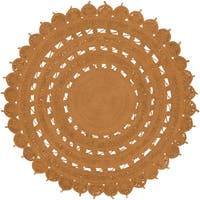 Hand-Woven Darnley Jute Area Rug (3' Round)