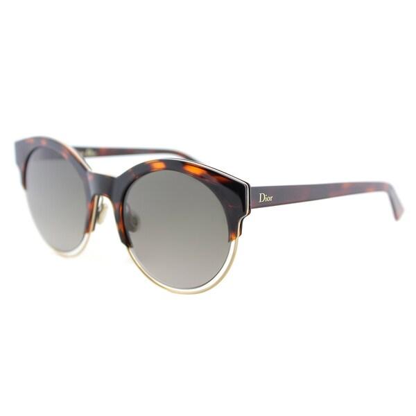 4e7e83face5 Dior Dior Sideral 1 S J6F HA Havana Rose Gold Plastic Round Sunglasses with  Brown
