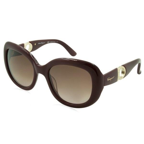 fa61ba78e9f Shop Ferragamo Sunglasses - SF727S   Frame  Burgundy Lens  Brown ...