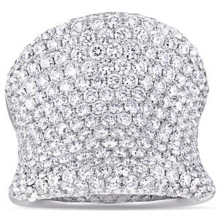 Miadora Signature Collection 18k White Gold 6 5/8ct TDW Diamond Curvy Cluster Statement Ring (G-H, SI1-SI2)